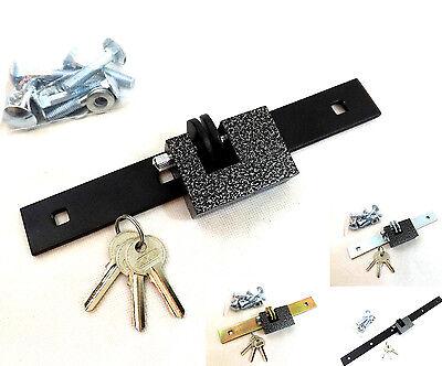 Locking Bar (Hasp Locking Security Bar And Shutter Padlock      Van Gate Garage Door Shed STR)