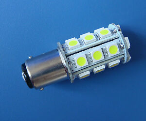 1x-BA15D-1142-LED-bulb-Boat-lights-24-5050-SMD-Super-Bright-300LM-DC12V-White