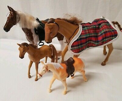VintageBarbie1995 Horse Movable Head and Neck Magnetic Pickup Fowl lot of 4