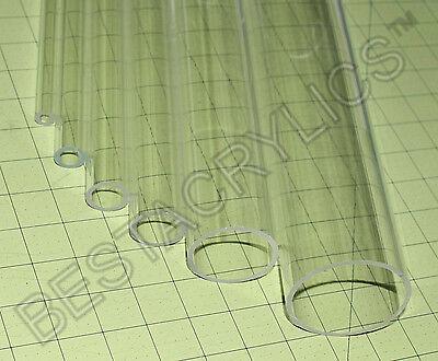 2 Pc 58 Od X 12 Id Diameter Thin Wall Clear Acrylic Plexiglass Tubes 36 3ft