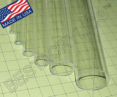 4 Od X 3 34 Id Clear Acrylic Plexiglass Lucite Tube 4 Diameter 8 Inch Long