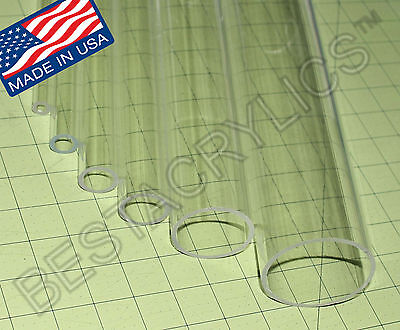 Clear 1 14 Od Diameter 1 Id Acrylic Plexiglass Lucite Tube 48 Inch Long 4 Ft