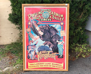 Awesome Barnum & Bailey Circus Poster 1980s. Ringling Bros.
