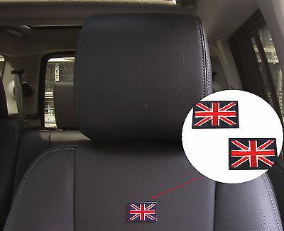 Car Seat Backrest United Kingdom Flag Style Emblem Decal Embroider Sticker Badge