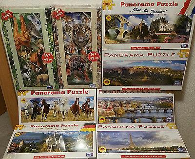 Panorama Puzzle 8 Motive 1000 Teile Städtepuzzle ca.95x33cm groß NEU! Tierpuzzle ()