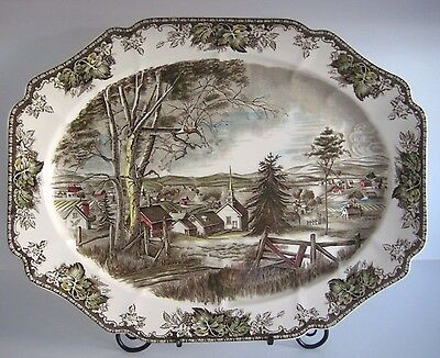 "Johnson Brothers THE FRIENDLY VILLAGE Platter Made in England 20"" X 16"""