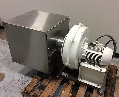Chicago Blower Size 1500 High Pressure Centrifugal Blower W Ss Filter Housing