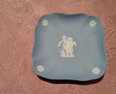 WEDGWOOD Blue Jasperware, Small, Square Dish 4 1/2
