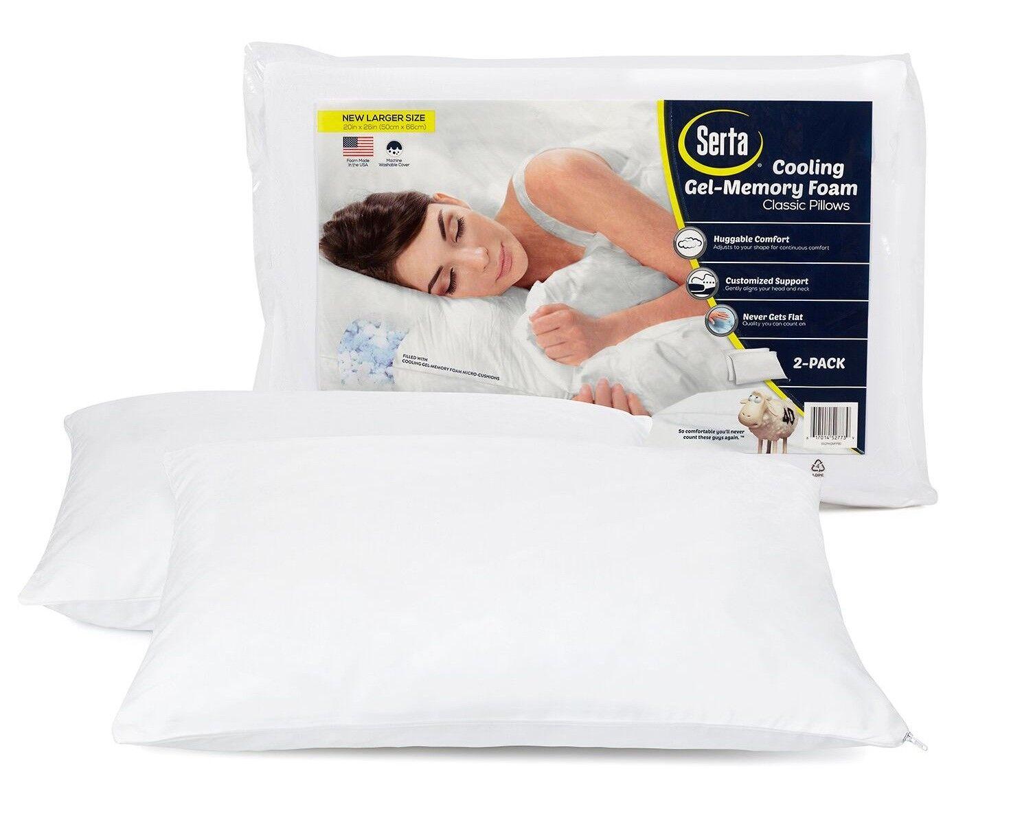 gel memory foam cluster pillows 2 pack