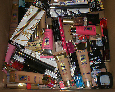 L'Oreal Cosmetics Makeup Eye Lip Face Wholesale Resale Mixed Lot of 30 NEW FRESH