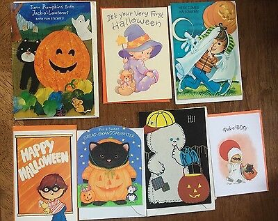 Lot of 40 + Halloween Greeting Cards Vintage 1980's and 1990's 2904