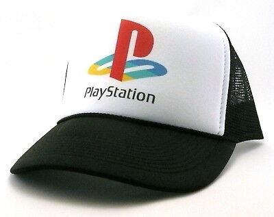 Vintage PlayStation Trucker Hat mesh hat snap back hat black New adjustable Black Adjustable Trucker Hat