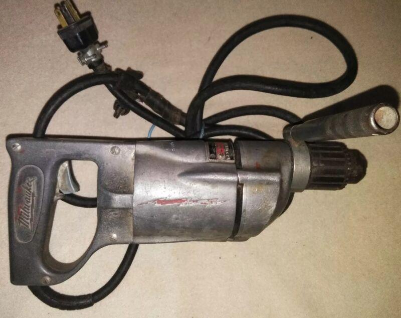 "Vintage Milwaukee Heavy Duty 1/2"" Drill Corded -1000"