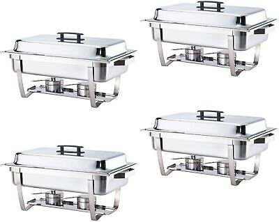 Alpha Living 70014 4 Pack 8qt Chafing Dish High Grade Stainless Steel Chafer