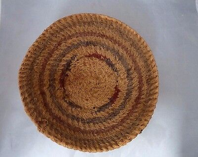 Native American Weave Basket Bowl. Very Nice Design. Approx 9.25