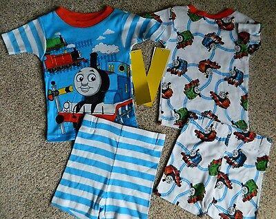Thomas the Train 2 pair cotton pajamas w/shorts boys size 2T