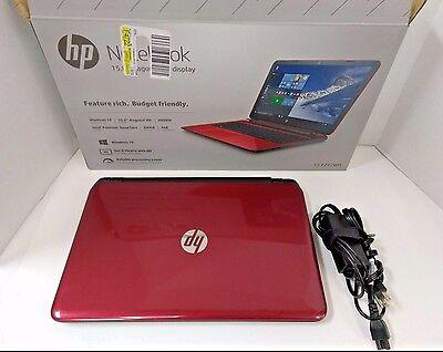 Hp Flyer Red 15 F272wm 15 6  Laptop   N3540   4Gb   500Gb   2 16Ghz   Windows 10