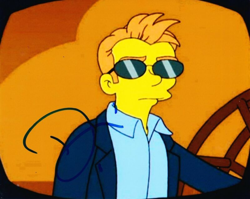 DAVID CARUSO SIGNED 8X10 PHOTO AUTOGRAPH THE SIMPSONS FOX CSI MIAMIA COA C