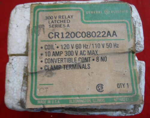 GE CR120C08022AA   300V  RELAY LATCHED 10AMP
