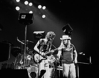 "LYNYRD SKYNYRD Ronnie Van Zandt, Steve Gaines St. Pete, FL 12""x15"" Oct. 16, 1977"