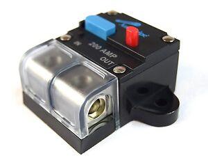 12 Volt 200 AMP Manual Resettable Circuit Breaker Car Audio and Marine CB-200A