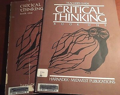Critical Thinking Book One And Teachers Guide Bundle 1976 Midwest Publishers