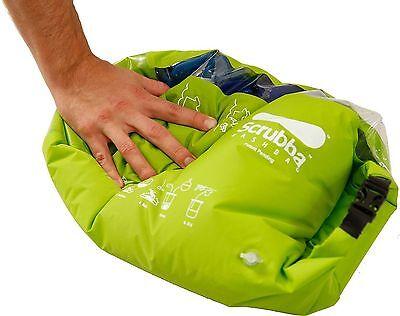SCRUBBA Portable Laundry Washing Machine Wash Bag Camping Travel System Kit NEW