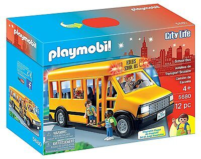 PLAYMOBIL 5680 School Bus City Action Ages 4+ New Toy Boys Girls Play Car Gift