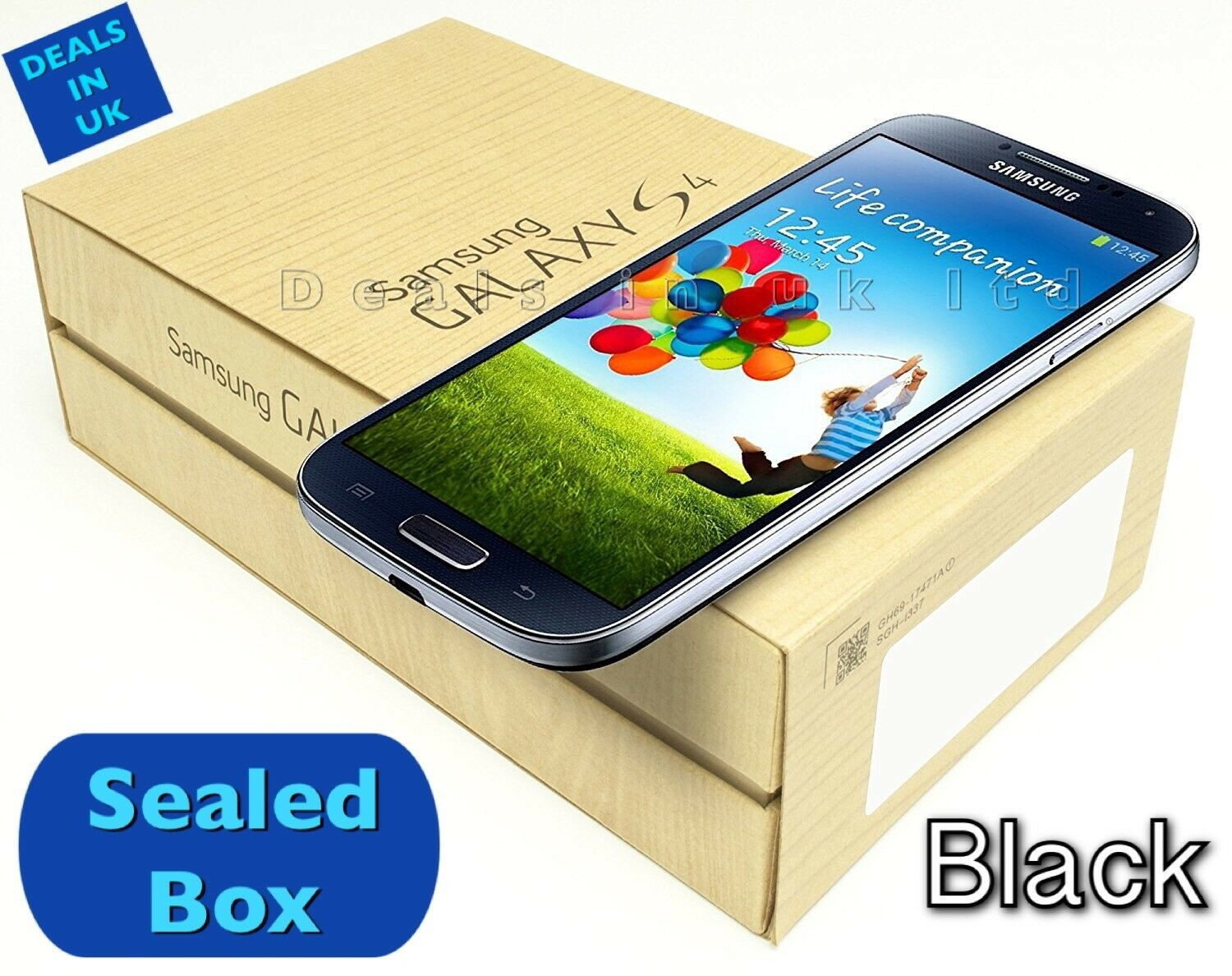 NEW BRAND NEW SAMSUNG GALAXY S4 GT-I9500 BLACK UNLOCKED SIM-FREE ANDROID SMARTPHONE