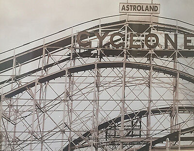 1920 Coney Island Roller Coaster Cyclone Ride Amusement Park Old Time B W