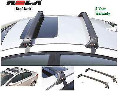 ROLA CUSTOM FIT ALUMINUM 110LB ROOF RACK FITS 11-16 HYUNDAI ELANTRA 5YR WARRANTY