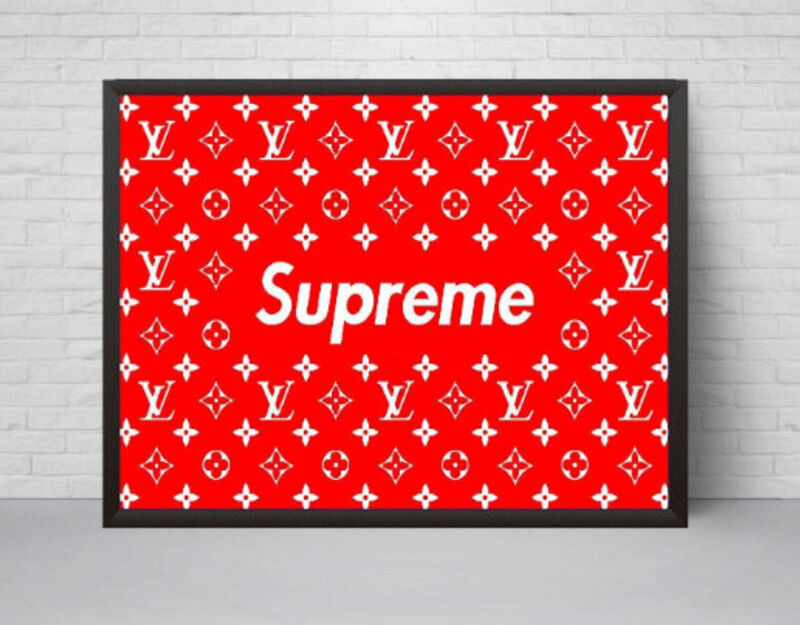 Red Supreme x Louis Vuitton Poster