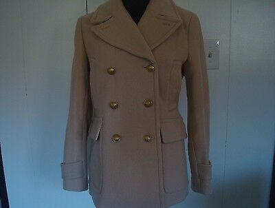 NWT J. Crew Women  STADIUM-CLOTH MAJESTY PEACOAT DustyGinger 8  c8554 $298 for sale  Melbourne