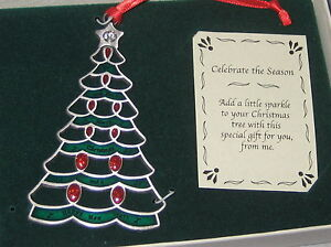 TREE-Christmas-Ornament-We-Wish-You-Merry-NEW-Crystal-Star-Topper-Glitter-Red