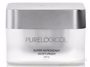PURELOGICOL 50ml Super Antioxidant SPF15 MOISTURISER Face Cream ANTI-AGEING
