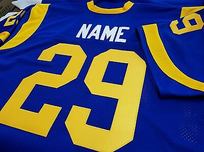 #00 LA  Rams Custom Design Football Jersey Your Name&Number Sewn on.