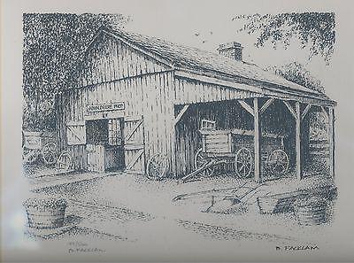 John Deere Blacksmith Shop Limited Edition Signed #'d 129/500 Grand Detour IL