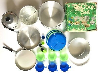 Vintage American Camper 6 Party Cook Set - COMPLETE Camper Cookset