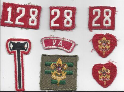 Boy Scout uniform Life rank, numerals, Paul Bunyan, ASPL, VA strip 1950s