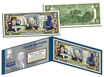 Donald J  Trump President Maga 2016 Official Colorized Legal Tender U S   2 Bill