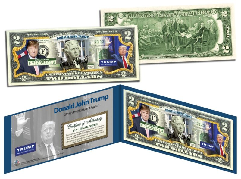 DONALD J. TRUMP President MAGA 2016 OFFICIAL Colorized Legal Tender U.S. $2 Bill