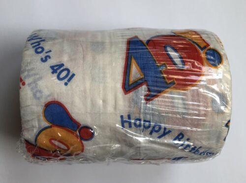 40th Birthday Gag Toilet Tissue Amscan Happy Birthday 40 Nov