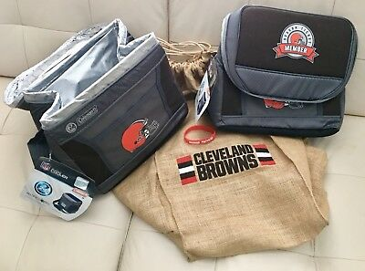 9d8ebf08cdc CLEVELAND BROWNS Coleman NFL Tailgate Pack-2 Soft Insulated Coolers   Band  NEW!