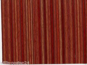 Möbelstoff Polsterstoff Landhaus Streifen Chenille Meterware -  Pietra 56 rot
