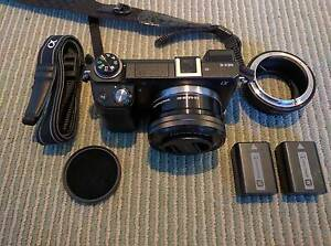 Sony NEX 6 + SELP1650 lens + 2X Sony battery + many accessories West End Brisbane South West Preview