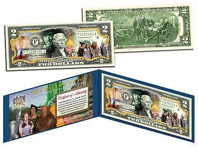 WIZARD OF OZ *Dorothy Ruby Red Slippers* Colorized $2 Bill Legal Tender LICENSED Wizard Of Oz Ruby Red Slippers