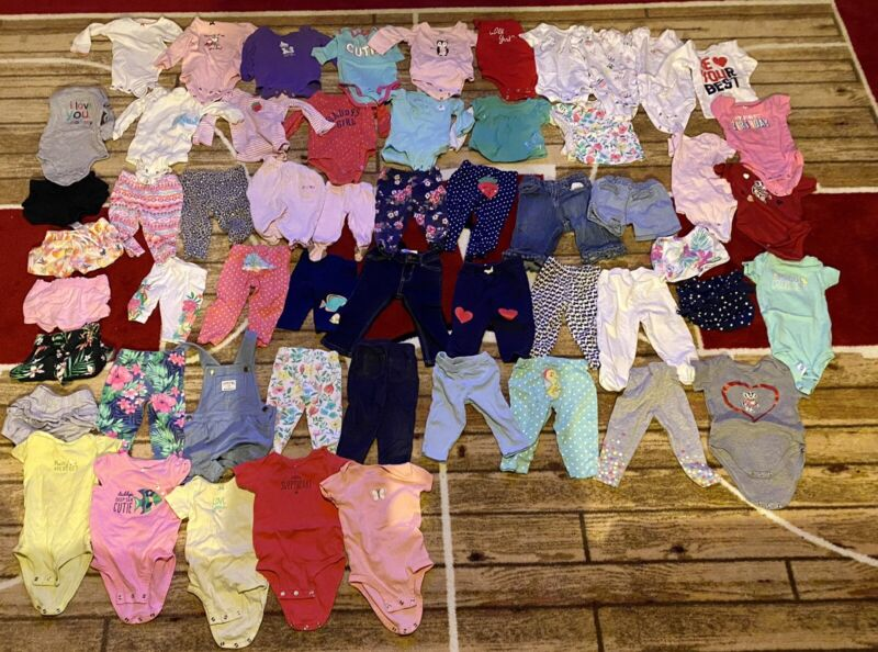 Baby girl clothes 9 months lot (55 Pieces)