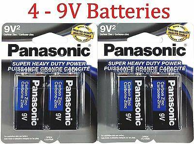 Heavy Duty 9v Battery - 4 Wholesale 9V Panasonic 9 Volts Batteries Battery Super Heavy Duty Lot
