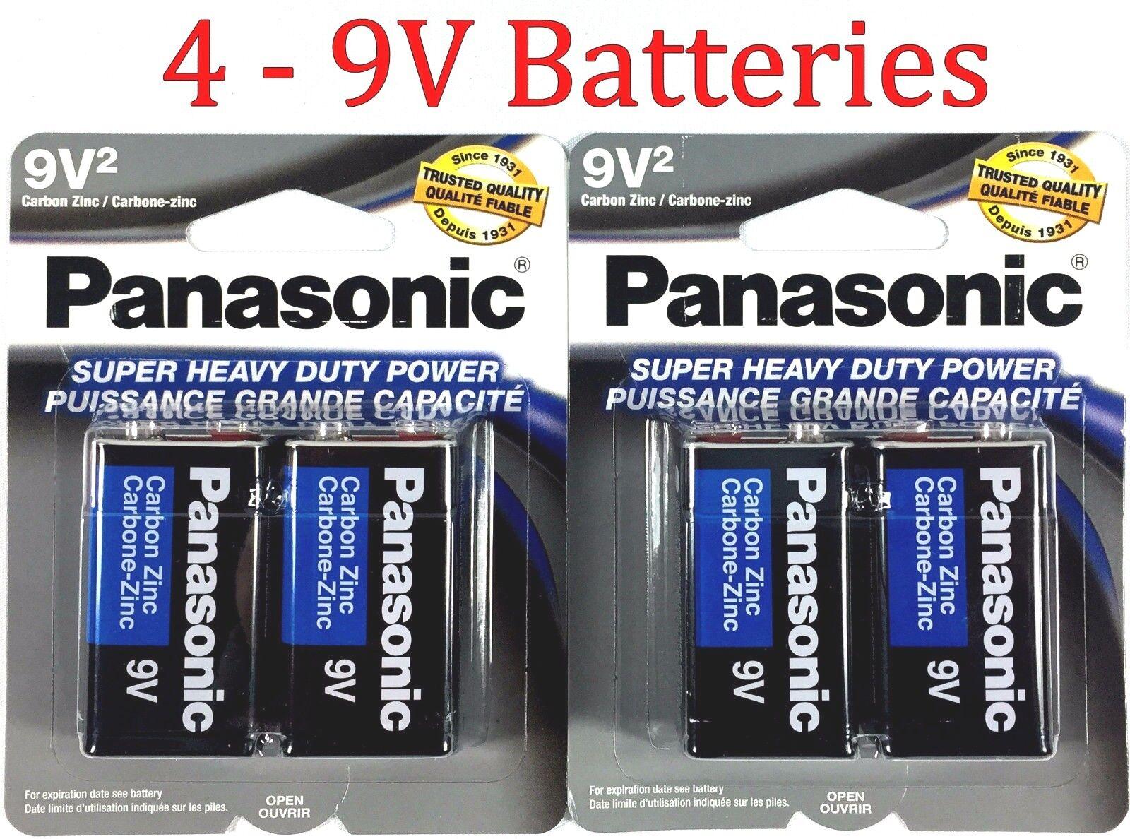 4 Wholesale 9V Panasonic 9 Volts Batteries Battery Super Hea
