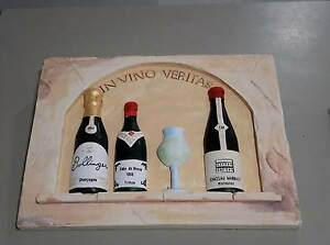 Wall plaque wine 40wx30hcm. VGC. As shown. Flinders View Ipswich City Preview